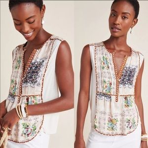 Tiny Anthropologie Patchwork Floral Tank Top